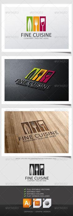 Fine Cuisine Logo — Vector EPS #hostel #class • Available here → https://graphicriver.net/item/fine-cuisine-logo/5074377?ref=pxcr