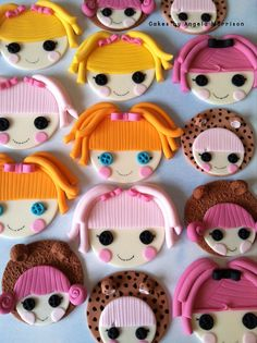 Set of lalaloopsy cupcake/cookie toppers by CakesbyAngela on Etsy