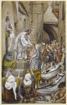 James Tissot (French, 1836-1902). All the City Was Gathered at His Door (Toute…
