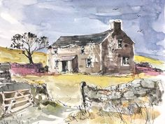 Signed Original Watercolour -Old Farmhouse - by Annabel Burton #IllustrationArt