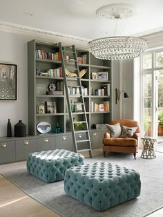 ottoman!!! - forget the ottoman - look at the library ladder - THAT is on my must have list.... love my books