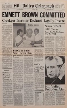 Hill Valley Telegraph.