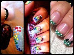 Nail art...inspired by #lisafrank #cutepolish