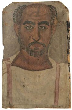 BBC - Your Paintings - Fayum Mummy Portrait of a Middle-Aged Man*