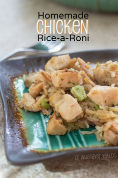 Homemade Chicken Rice-a-Roni - Easy and awesome one skillet meal! Chicken Sandwich Recipes, Easy Chicken Recipes, Chicken Ideas, Easy Skillet Dinner, Skillet Dinners, Homemade Rice A Roni, Cooking Recipes, Healthy Recipes, Cheap Recipes