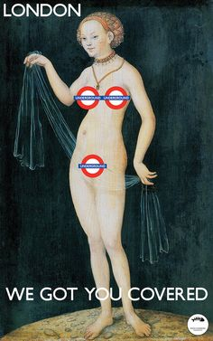 London Underground. I loved all of the neat prints I saw while travelling through London