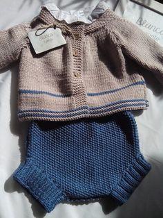 Traje de bebe, de blancaypunto Bonne idée pour le gilet