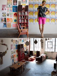 LOVE this wall art. ideal for a studio!!! <3