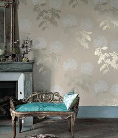 Gold and turquoise by Designer Guild