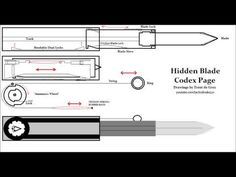 Assassin's Creed Dual Action Hidden Blade Codex Page