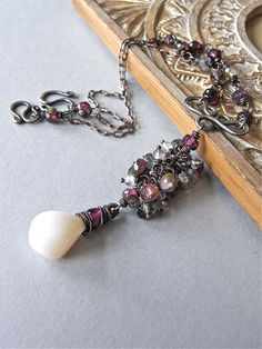 Necklace  Tourmaline fluorite opal and by realisationcreations, $122.00