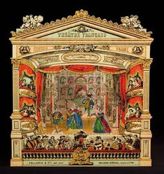 """Imagerie Pellerin Proscenium by d'Epinal """"Theatre Francais"""" - Paper Theater from http://www.victoriana.com/theater/papertheaters.html"""
