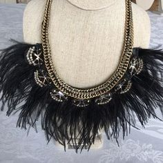 """I just added this to my closet on Poshmark: Harper Feather Neckkace. Price: $99 Size: 7 1/2"""" drop w/o feathers. 10 1/2"""" drop with feathe"""
