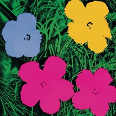 """""""Art Print of Flowers"""" - Andy Warhol posters and prints available at Barewalls.com"""