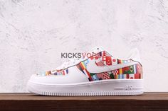 f5f84b49d5e Custom Nike Air Force 1 Low Premium One World Flags 2018 FIFA World Cup  Russia World