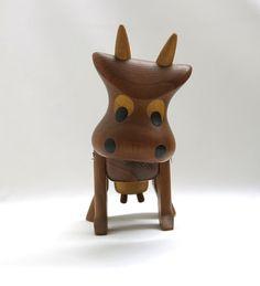 Dansk Design  cow  Sveistrup Denmark  60s Teak  by ZeitepochenShop