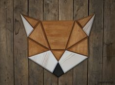 Tomasz Ciurka Crafts Cool Geometric Animal Heads From Wood Diy Wood Projects, Wood Crafts, Woodworking Projects, Fox Decor, Wall Decor, Geometric Fox, Wood Animal, Animal Heads, Barn Quilts