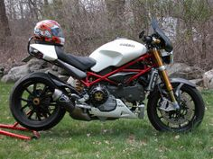 Ducati S4RS, with a shorty exhaust.