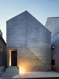 fachada geométrica de concreto
