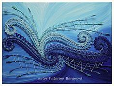 podmaľované paličkované obrazy - Katky Búranovej Irish Crochet, Diy Crochet, Bobbin Lacemaking, Lace Art, Fabric Pictures, Thread Art, Lace Jewelry, Lace Making, Embroidery Art