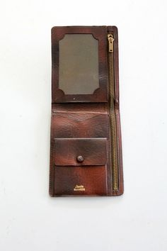 1970s Leather Wallet / Tooled Leather Bilfold by 86Vintage86