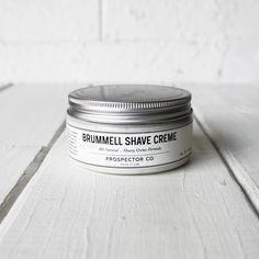 Most guys aren't using the best products to shave with. Help a guy in your life discover a better shave by giving them the Brummell Shave Creme   $18.97 #mensholidaygifts #grooming #nattyguy