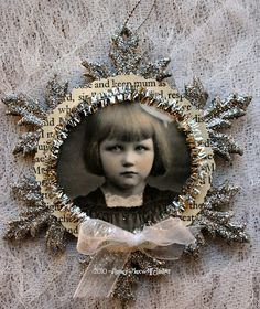 use old family photo to make keepsake craft