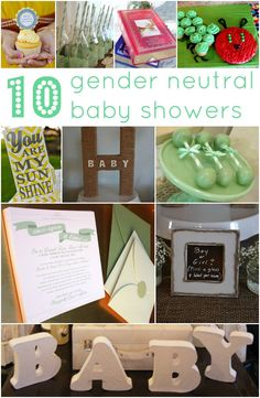 For when your friend isn't find out what she's having...10+ Gender Neutral Baby Showers - lots of ideas!