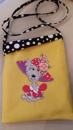 """Dawgy Bagz! Great lil' bag to hold your gadgets or treats for your pooch! Shop for it in my """"ETSY SHOP""""!"""