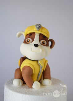 Rubble, Paw Patrol, fondant figurine