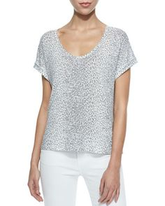 Omnira Short-Sleeve Leopard-Print Tee at CUSP