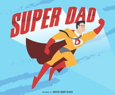 Illustration resembling a comic featuring a superhero with cape, glasses and the symbol D on its chest. Costume uniform in red and orange tones but colors