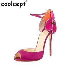 78.33$  Buy here - http://ali4ej.worldwells.pw/go.php?t=32647674166 - ultra high heels sexy shoes women thin high heel sandals peep open toe brand fashion flower lady footwear size 34-43 PB00159 78.33$