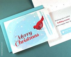 Eco friendly corporate holiday cards plant them grow flowers send clients and colleagues seasonal greetings while boosting your business with the our new eco friendly business holiday cards in fresh festive designs reheart Images