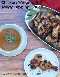 Chicken Wings with Tangy Dipping Sauce -