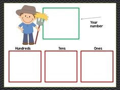 place value mat- hundreds, tens, and ones center