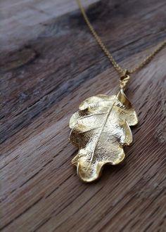 Gold oak leaf necklace, by Adorn by Ashleigh on Folksy,  £12.00