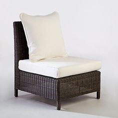World Market ~ Solano All-Weather Wicker Sectional Slipper Chair  SKU #453956  $249.99
