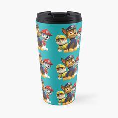 'Dog Paw Patrol ' Travel Mug by StefaniaAlina Dog Paws, Paw Patrol, Travel Mug, My Arts, Art Prints, Mugs, Printed, Awesome, Artist