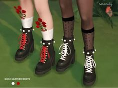 The Sims 4 Gucci Leather Boots Sims Four, Sims 4 Mm Cc, Maxis, Sims 4 Anime, Sims4 Clothes, Sims 4 Cc Shoes, Sims 4 Cc Packs, Sims 4 Cc Makeup, Sims 4 Cas