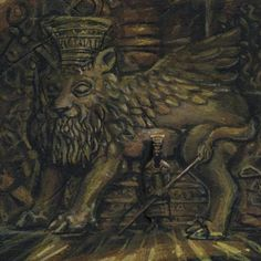 King Nebuchadnezzar II King of Babylon -Chaldean Dynasty 605 BC - 562 BC AKA Nebuchadnezzar the Great.      Mural Mosiac Art