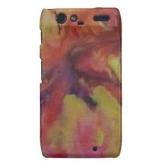 Hülle Aquarell Abstrakt gelb/rot