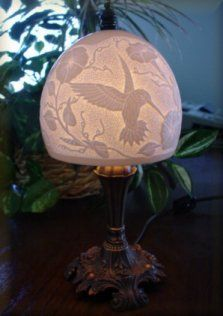 carved eggshell