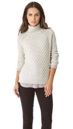Cozy winter sweater.  Just need rain storm, fire and hot chocolate.