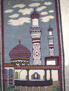 Prayer rug woven in Central Asia, received as a birthday gift from my student in Baku