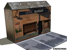 Grand Theft Auto V - Xero Market Paper Model - by Papermau Download Now!