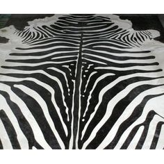 Zebra Print Cowhide  |  Rugs, Hides & Sheepskins  |  Rugs and Accessories  |  French Bedroom Company