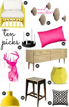 The Design Chaser: In A Designer Home | Online Store  yellow & pink inspiration x