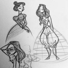 The struggle was real in victorian times. #art #artwork #artist #sketch #sketches #sketching #sketchbook #draw #drawing #doodle #doodles #doodling #cute #cartoon #animation #characterdesign #design #victorian #vintage #fashion #illustration