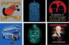 This new selection of Doctor Who tees from http://blueboxtees.com/?wm=10033 are just $12 each and available until 25 July